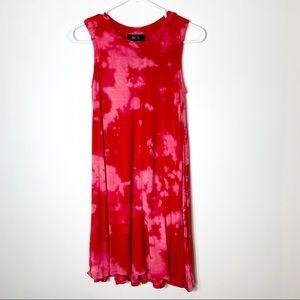 BCX Sleeveless Red Rare Acid Wash Dress Sz S 1/1